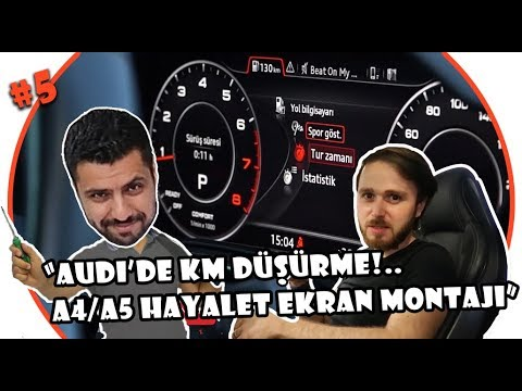 Audi A4 ve A5'e Hayalet Ekran Takma