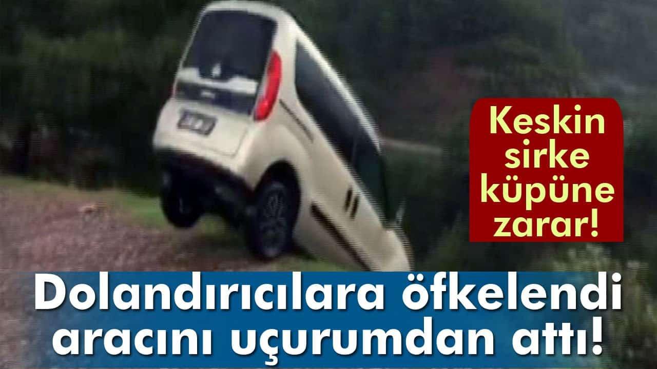 Fiat Doblo'sunu Uçurumdan Atan Adam